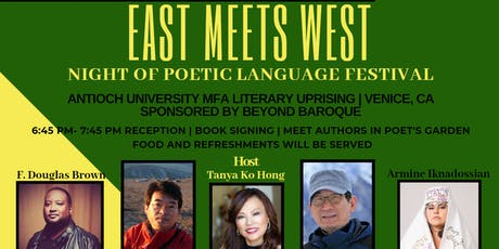 East Meets West: Night of Poetic Languages Festival tickets