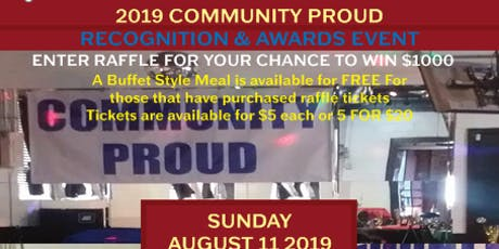 2019 COMMUNITY PROUD RECOGNITION & AWARDS EVENT tickets
