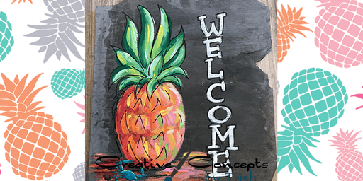 Pineapple Welcome Slate