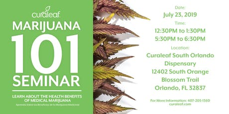 MMJ 101 at Curaleaf South Orlando tickets