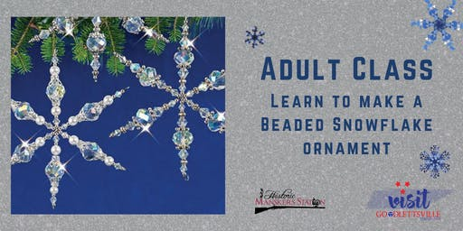 Adult Class:  Beaded Snowflake Ornament