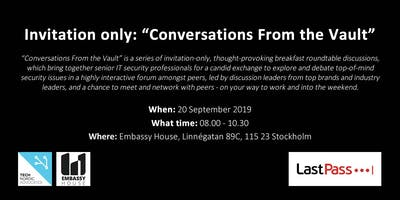"""Invitation Only: \""""Conversations From the Vault\"""""""