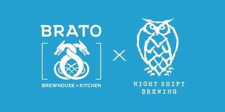 Brato + Night Shift Lobster Beer Dinner  tickets