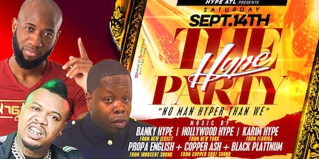 TheHypeParty in Atlanta @ Cyrstal Palace| Sept 14th tickets