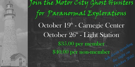 Motor City Paranormal Investigation at Fort Gratiot Light Station tickets