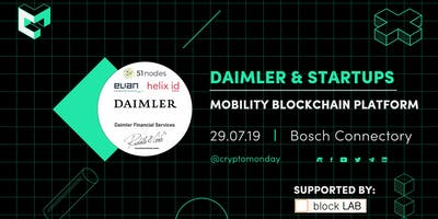 Special Event: Blockchain Use Cases - Daimler Mobility Blockchain Platform