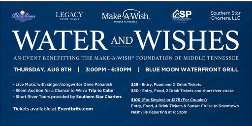 """Water and Wishes"" PARKS Realty Fundraiser for Make-A-Wish Foundation of Middle TN"