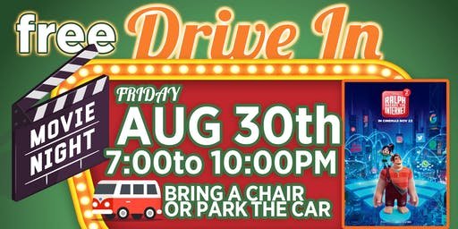 Free Drive In Movie ( Featuring Wreck It Ralph 2)