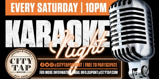 Karaoke Every Saturday