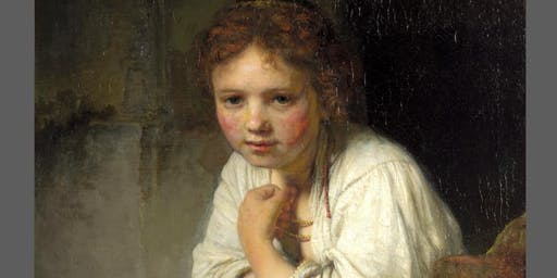 Acrylic Painting: Girl At A Window By Rembrandt