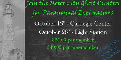 Motor City Paranormal Investigation at Carnegie Center tickets