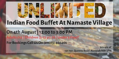 Unlimited Indian Food Buffet Lunch - Norwich - 4th August