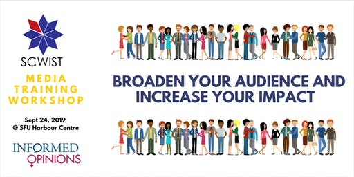 WORKSHOP:   BROADEN YOUR AUDIENCE AND INCREASE YOUR IMPACT
