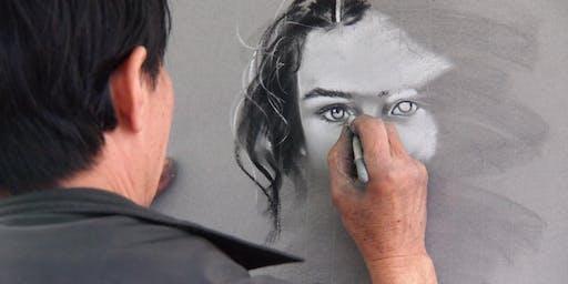 Paint A Face Portrait With Pastels