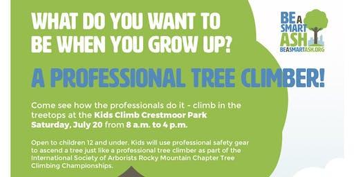 FREE Kids Climb @ ISA Rocky Mountain Tree Climbing Competition