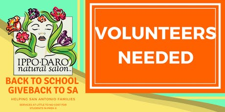 Volunteer for Back to School Giveback to SA tickets