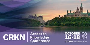 2019 CRKN Access to Knowledge Conference - 2019...