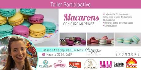 Taller con CARO MARTINEZ: MACARONS entradas