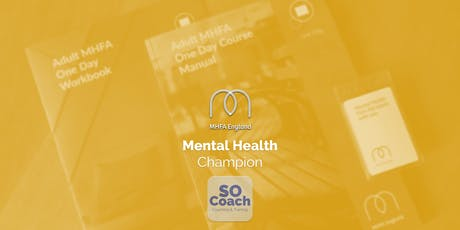 Mental Health Champion - Altrincham - Adult One Day tickets