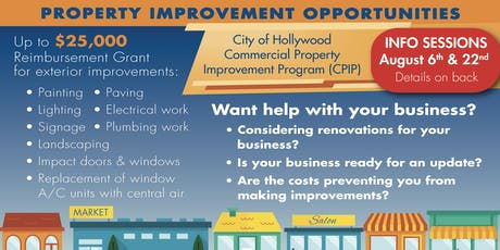 Commercial Property Improvement Program (CPIP) Information Session tickets