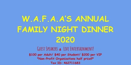 Annual Family Night Dinner 2020