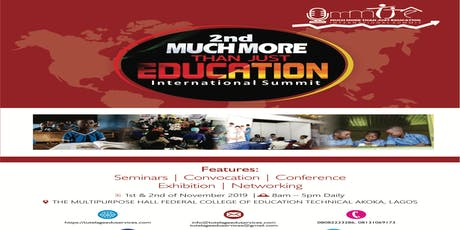 Much More Than Just Education International Summit 2019 tickets