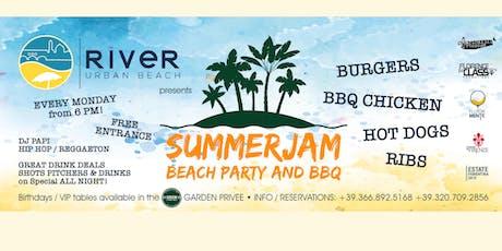 SUMMER JAM BEACH PARTY & BBQ @ RiveR Urban Beach Florence biglietti