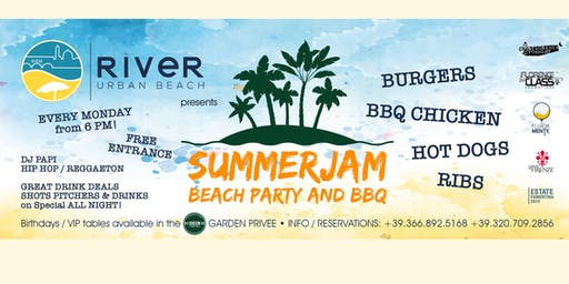 SUMMER JAM BEACH PARTY & BBQ @ RiveR Urban Beach Florence