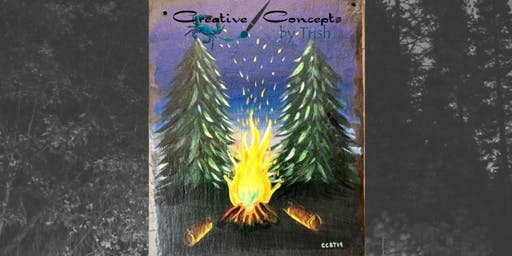 Campfire Fun Slate or Canvas Paint Night