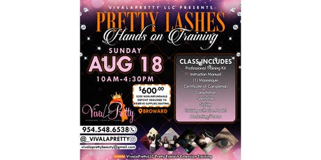 VivaLaPrettyLLC Pretty Eyelash Extension Training tickets