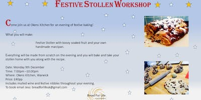 Festive Stollen Workshop