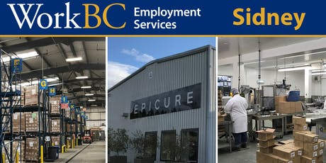 WorkBC Sidney | Epicure Employment Info Session tickets