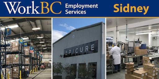 WorkBC Sidney | Epicure Employment Info Session