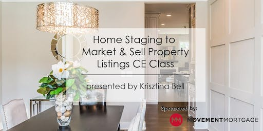 3-Hour CE Class - Home Staging to Market & Sell Property Listings