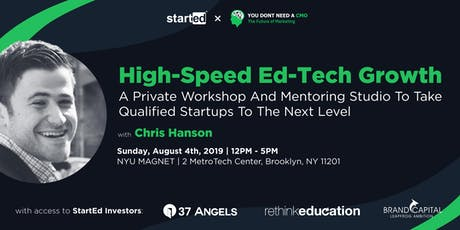 High-Speed Ed-Tech Growth with Chris Hanson tickets