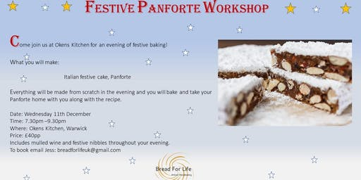 Festive Panforte cake workshop