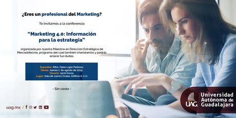 "Conferencia ""Marketing 4.0: Información para la estrategia"" entradas"