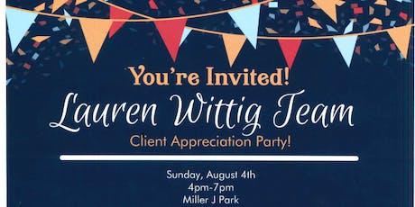 Lauren Wittig Team - Client Appreciation Party! tickets