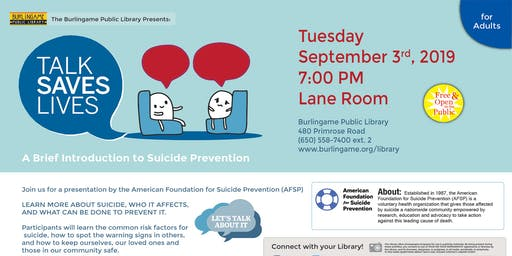 Talk Saves Lives: A Brief Introduction to Suicide Prevention