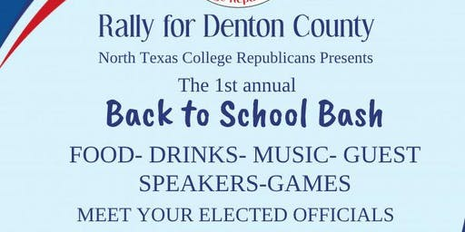 Rally for Denton Back to School Bash
