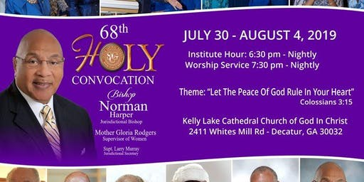 68th Annual Holy Convocation