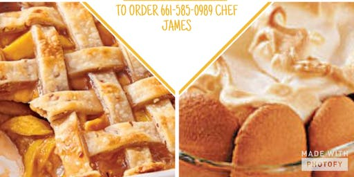 ONEDIA'S CUISINE CATERING SWEETS & TREATS                                              Southern Peach Cobbler And  Banana Pudding