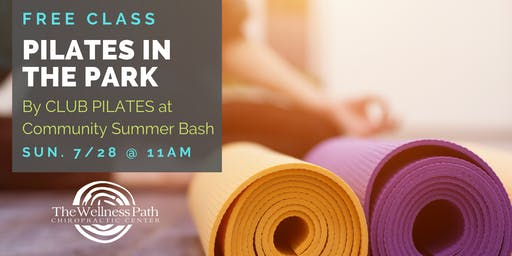 Pilates in the Park - Community Summer Bash