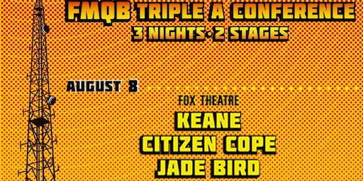 KEANE,  CITIZEN COPE, JADE BIRD