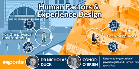 Human Factors and experience design for the workplace and physical environments tickets