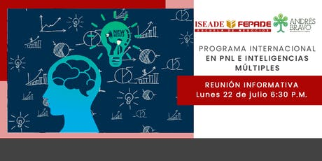 Evento informativo Programa Internacional en  PNL e Inteligencias Múltiples entradas