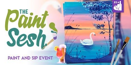 """Paint Night in Riverside, CA - """"Swan Lake"""" tickets"""