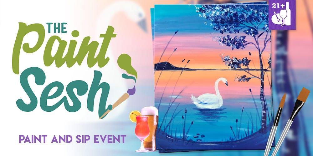 "Paint Night in Riverside, CA - ""Swan Lake"""