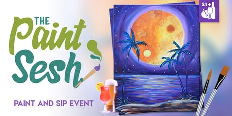 "Paint Night in Riverside, CA - ""Yin-Yang Moonlight"" tickets"