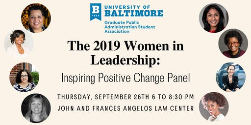 GPASA Women in Leadership: Inspiring Positive Change Panel